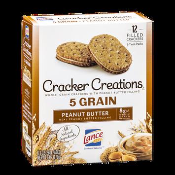 Lance Cracker Creations 5 Grain Peanut Butter - 6 PK