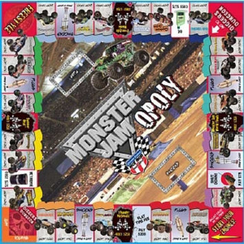 Monster Jam-opoly Game Ages 8 and up, 1 ea