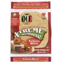 OLE Mexican Foods Xtreme Wellness! 8 Inch Tomato Basil Wrap Tortillas, 8ct