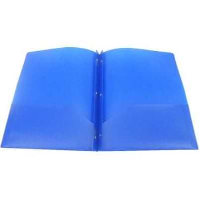 Walmart Private Label 3-Prong Poly Portfolio, Blue