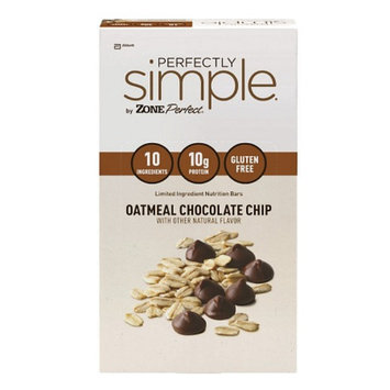 ZonePerfect Perfectly Simple, Oatmeal Chocolate Chip, 12 ea