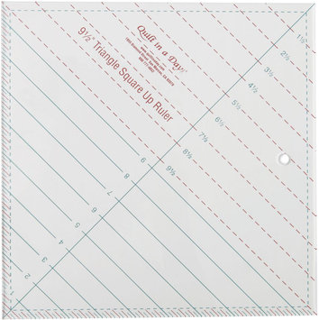 Quilt In A Day Inc. Quilt In A Day Triangle Square Up Ruler 9-1/2