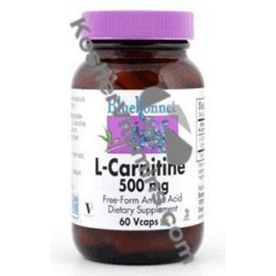 Bluebonnet L-Carnitine 500 mg Vitamin Capsules, 30 Count