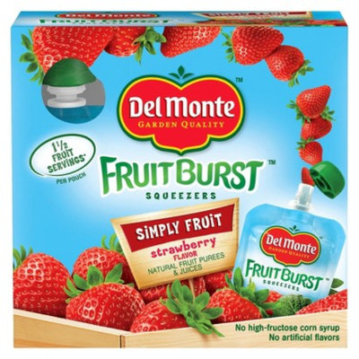 DEL MONTE Del Monte Fruit Burst Strawberry Squeezers 3.2 oz, 4 pk