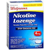 Walgreens Nicotine Stop Smoking Aid Lozenges 4 mg Original