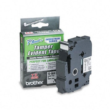 Brother International TZESE4 Tz Security Tape Cartridge For P-touch Labelers 3/4w Black On White
