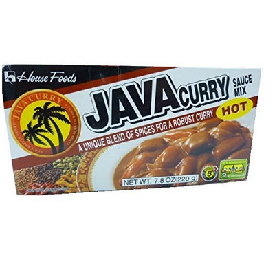 House Foods Java Curry Hot Hot, 7.8-Ounce Boxes (Pack of 10)