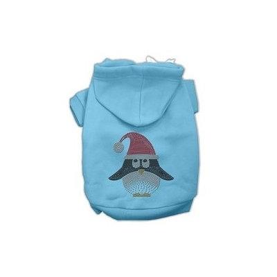 Mirage Pet Products Santa Penguin Rhinestone Hoodies Baby Blue S (10)