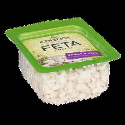 Athenos Feta Cheese Garlic & Herb Crumbled