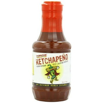 Schy Town Fire, Ketchapeno, 19-Ounce Bottles, (Pack of 6)