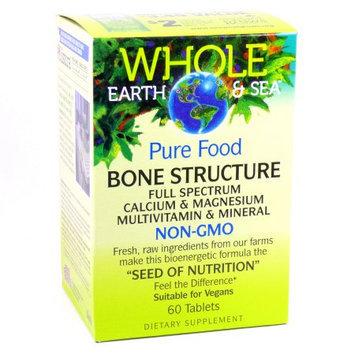 Whole Earth & Sea Bone Structure Multivitamin & Mineral Natural Factors 60 Tabs