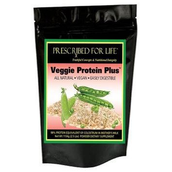 Prescribed For Life Veggie Protein Plus - Vegetarian Protein from Organic Brown Rice & Natural Yellow Pea Vegan Sources, 2.5 lb