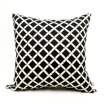 Majestic Home Goods Black Large Pillow