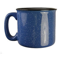 Eziba Santa Fe Style Ceramic Mug, 15 oz- Light Blue (Pack of 4)