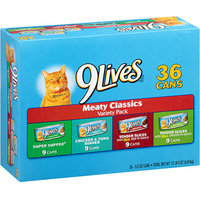 9 Lives 9Lives Cat Food, Meaty Classics Variety Pack, 5.5 oz, 36 count
