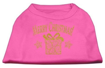 Ahi Golden Christmas Present Dog Shirt Bright Pink XL (16)