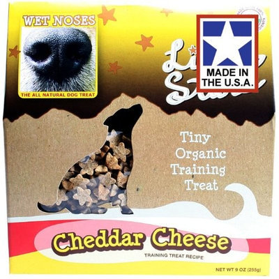 WET NOSES ALL NATURAL DOG TREATS Wet Noses Little Stars - Cheddar