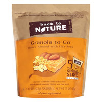 Back to Nature Granola to Go, Honey Almond, 7.5 oz