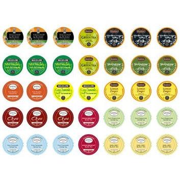 Crazy Cups Decaf Tea Sampler, K-Cup Portion Pack for Keurig K-Cup Brewers (Pack of 35)