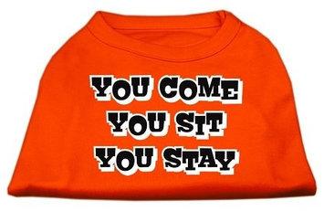 Ahi You Come You Sit You Stay Screen Print Shirts Orange Lg (14)