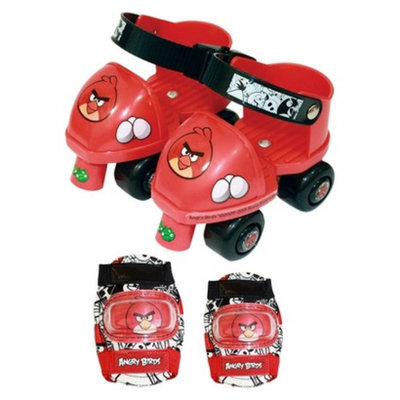 Angry Birds Toy Skate Combo Roller Skates with Knee and Elbow Pads
