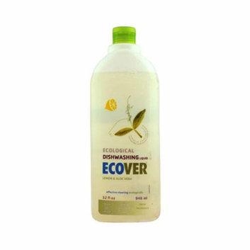 Ecover Liquid Dishwashing Soap Lemon Aloe Case of 12 32 oz