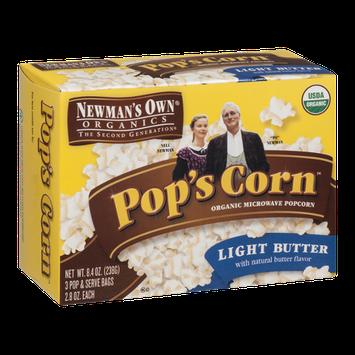 Newman's Own Organics Pop's Corn Organic Microwave Popcorn Light Butter - 3 CT