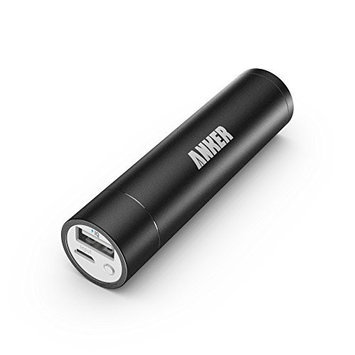 Anker 2nd Generation Astro mini 3350mAh Lipstick-Sized Portable Charger External Battery Power Bank with PowerIQ Technology for iPhone, Samsung, GoPro and More