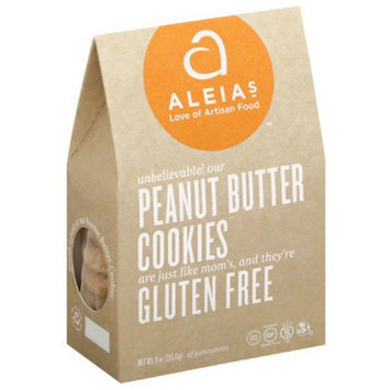 Aleia's Aleias Gluten Free Peanut Butter Cookies, 9 oz, (Pack of 6)