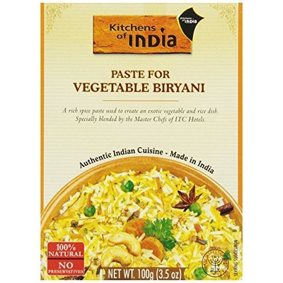 Kitchens Of India Recipe Paste, Vegetable Biryani, 3.5 Ounce (Pack of 6)