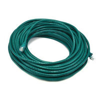 Monoprice 75FT 24AWG Cat5e 350MHz UTP Bare Copper Ethernet Network Cable - Green