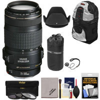 Canon EF 70-300mm f/4-5.6 IS USM Zoom Lens with 3 Filters + Hood + Pouch + Sling Backpack + Kit for EOS 6D, 70D, 5D Mark II III, Rebel T3, T3i, T4i, T5, T5i, SL1 DSLR Cameras