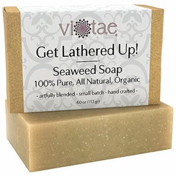 Certified Organic SEAWEED Soap - by Vi-Tae® - 100% Pure, All Natural, Aromatherapy LUXURY Herbal Bar Soap - 4oz