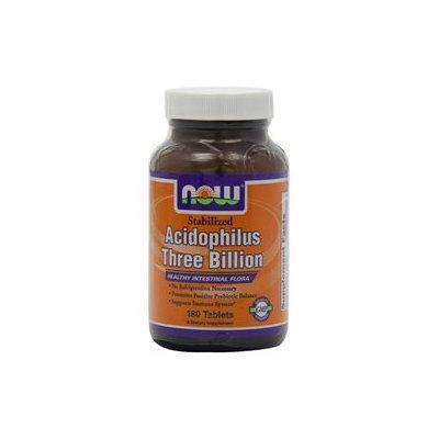 NOW Foods - Acidophilus 3 Billion Stabilized - 180 Tablets