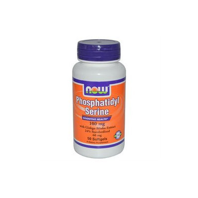 NOW Foods - Phosphatidyl Serine with Ginkgo Biloba Extract 100 mg. - 50 Softgels