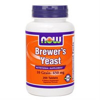 NOW Foods - Brewer's Yeast 650 mg. - 200 Vegetarian Tablets