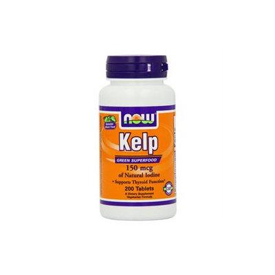 NOW Foods - Kelp Iodine Vegetarian 150 mcg. - 200 Tablets