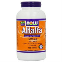 Now Foods, Alfalfa, 10 Grain, 650 Mg, 500 Tablets