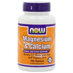 NOW Foods - Magnesium & Calcium 12 Ratio - 100 Tablets