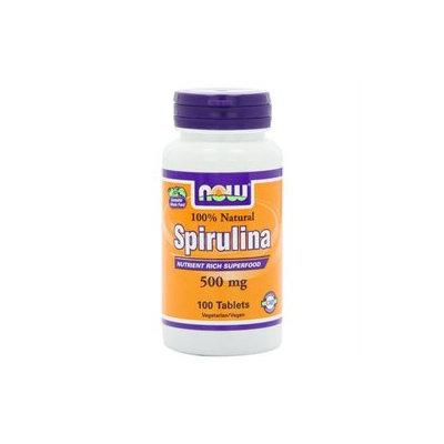 NOW Foods - Spirulina 100 Natural 500 mg. - 100 Tablets