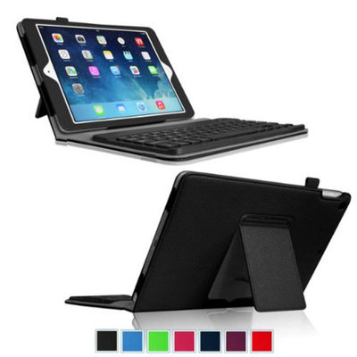 Fintie Ultra Thin Folio Key Removable Bluetooth Keyboard Case Cover for iPad Air 5 (5th Generation), Black