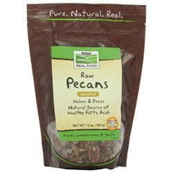 NOW Foods - Pecan Raw Halves and Pieces - 12 oz.