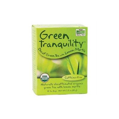 NOW Foods Real Tea Green Tranquility Tea Lemon Myrtle - 24 Tea Bags