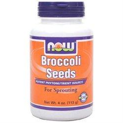 Now Foods, Broccoli Seeds, 4 Oz (113 G)