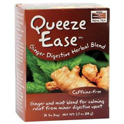 Now Foods, Queeze Ease Ginger Digestive Herbal Blend Tea 24 Tea Bags
