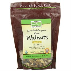 NOW Foods - Certified Organic Walnuts Raw Halves and Pieces - 12 oz.