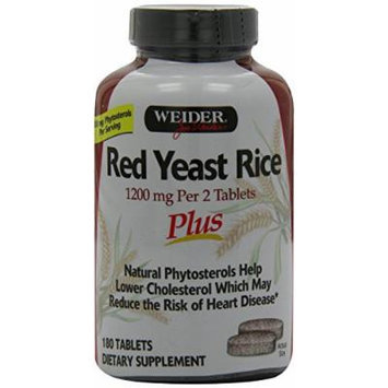 Weider Red Yeast Rice Plus with Phytosterols 1200 mg per 2 Tablets - 540 Tablets , Weider-se