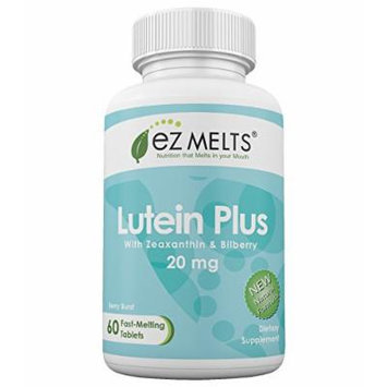 EZ Melts Lutein Plus, 20 mg, Fast Melting Tablets