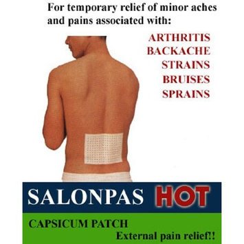 Salonpas Arthritis Pain Relieving Patch Comfort Stretch Box of 5 Patches (2.75 x 3.94 in)