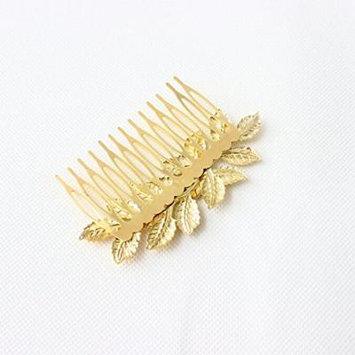 Nero hair Accessories, Chic Leaf Head Comb, Head fancinators for Women (Gold)